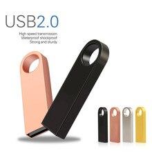 USB флеш-накопитель 32 Гб 16 Гб 128 Гб 64 ГБ 8 ГБ Флэшка высокоскоростная ручка-накопитель 16 32 8 64 128 Гб металлический флэш-диск USB 2,0 Ключ-Стик