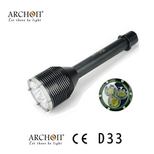 ARCHON D33 CREE XM-L T6 3000 lumen Diving Light Flashight Torch 100M Underwater photographing by 18650 Battery(China)