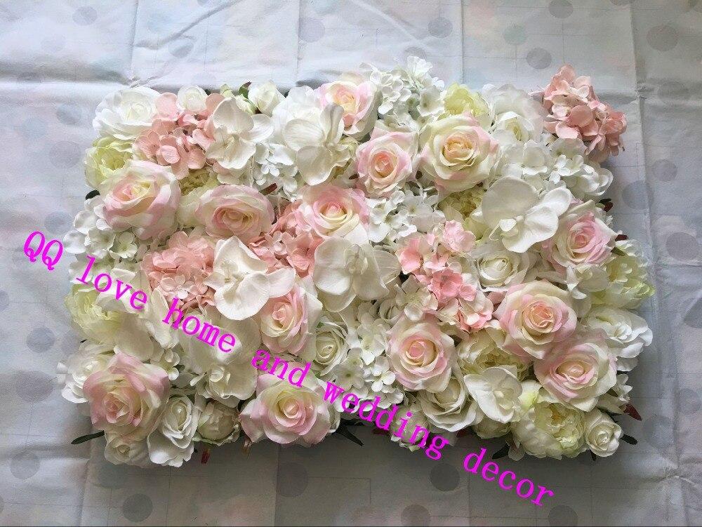 10 pcs/lot artificielle soie rose papillon orchidée fleur mur mariage fond hortensia pivoine Phalaenopsis rose route plomb