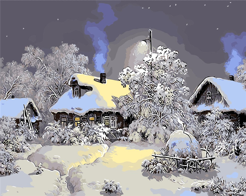 Buy In Winter Jungle Cabin The Paintings