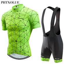 Phtxolue Pro Cycling Clothing Men Cycling Jersey Set Bike uniform  Road Bicycle Jerseys MTB Bicycle Wear Cycling Sets