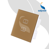 2 Key 1Way Lamp Controlled Electric Switch / Touch ON/Off Switch Panel 85VAC 250VAC (SPT SM 21)