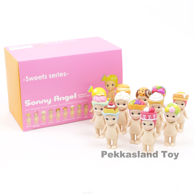 Sonny Angel 2017 Sweets Series Cookie Popcorn Konpeito Mini PVC Action Figures Collectible Model Toys Dolls Gift 12pcs/set 8CM sonny angel mini anime cosplay 25pcs set pvc action figures collectible model toys dolls kids gifts boxed holiday gifts