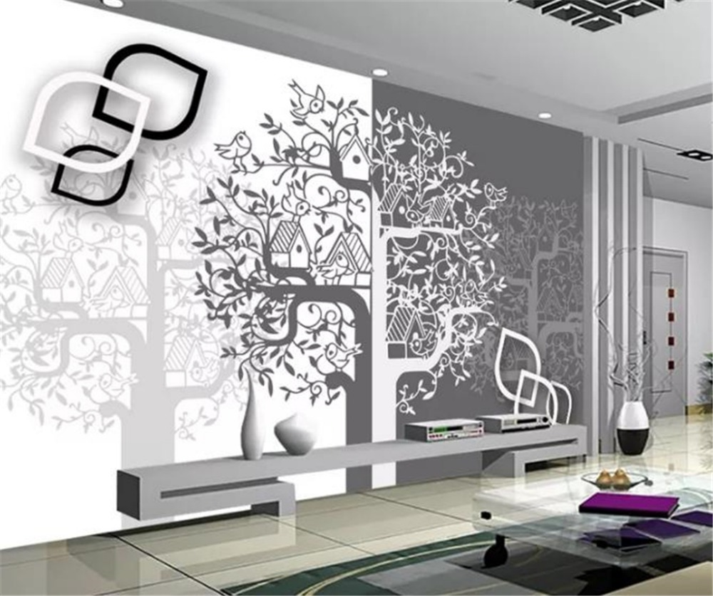 Custom Any Size 3d Wallpaper Fashion Birds and Trees Big Hand Painted 3DDigital Printing HD Decorative Wall paper Beautiful WallCustom Any Size 3d Wallpaper Fashion Birds and Trees Big Hand Painted 3DDigital Printing HD Decorative Wall paper Beautiful Wall