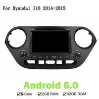 HD 1024 600 2GB RAM Eight Core Android 6 0 1 Car DVD GPS For Hyundai
