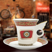Free Shipping Ceram Cup For Coffee Tea Milk Cup Afternoon Tea Cup With Plate