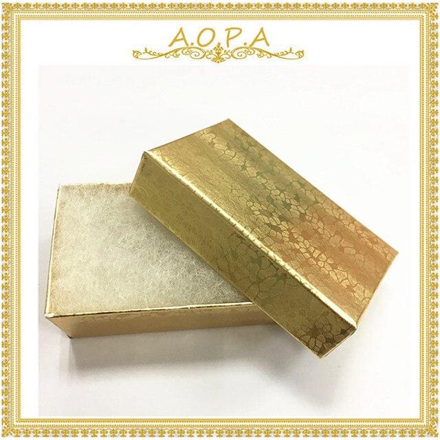 21 Gold 100pcs Fancy Gift Box Cotton Filled Paper Box Wedding Favor
