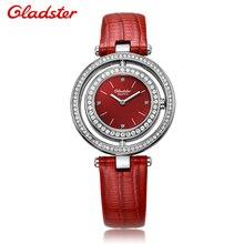 France Gladster Fashion Watch Women Quartz Watch Women Analog Wristwatches Crystal Clock Women Leather Strap Watch Relogio Reloj