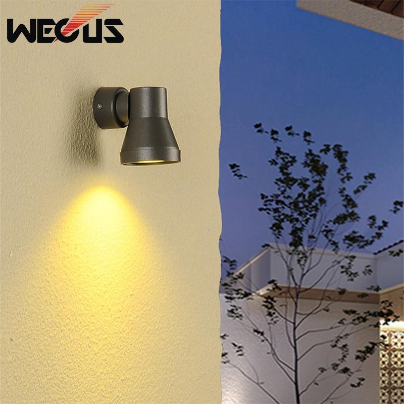 Outdoor wall lamp waterproof LED hallway stairs creative wall light garden balcony exterior courtyard coffee buitenverlichting цена 2017
