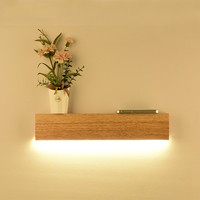 Wooden LED wall lamp modern storage decoration lighting simple wood living room bedroom bedside wall lamp mx6101437