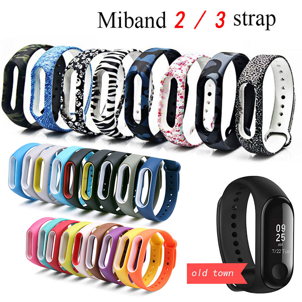 For Xiaomi Mi Band 2/3 Bracelet Strap Miband 2/3 Strap Silicone Wrist Strap For Xiaomi Mi Banda 3 Smartband M3 Mi Band 3 Strap