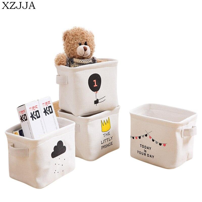 XZJJA Creative Desktop Storage Box Underwear Sock Organizers Stationery Toy Cosmetic Jewelry Sundries Storage Basket