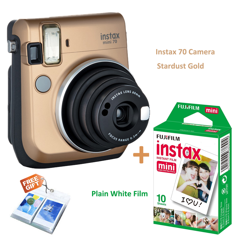 Original fujifilm instax mini 70 stardust gold color for Housse instax mini 70