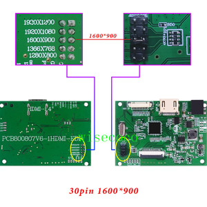 Image 4 - EDP Lcd Controller 30pin Board universal support 1280*800 1920 *1200 1920 *1080 1600*900 1366 *768 Display for Raspberry Pi