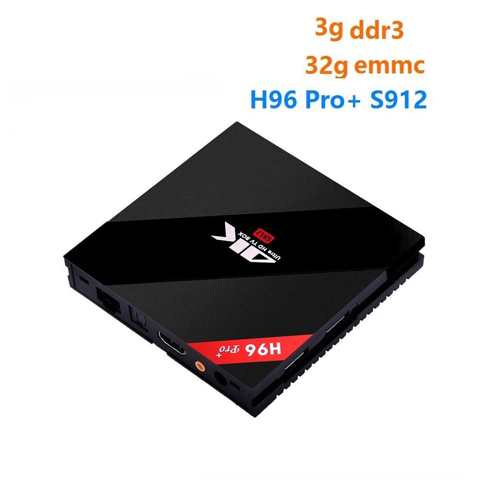 [WeChip] H96 Pro Plus Android 7.1 TV Box S912 Octa-Core 3G/32G 2.4G/5.8GHz Wifi 100M/1000M 4K BT4.1 PK X92 tv boxHD Media Player promoitalia пировиноградный пилинг pro plus пировиноградный пилинг pro plus 50 мл 50 мл 45%
