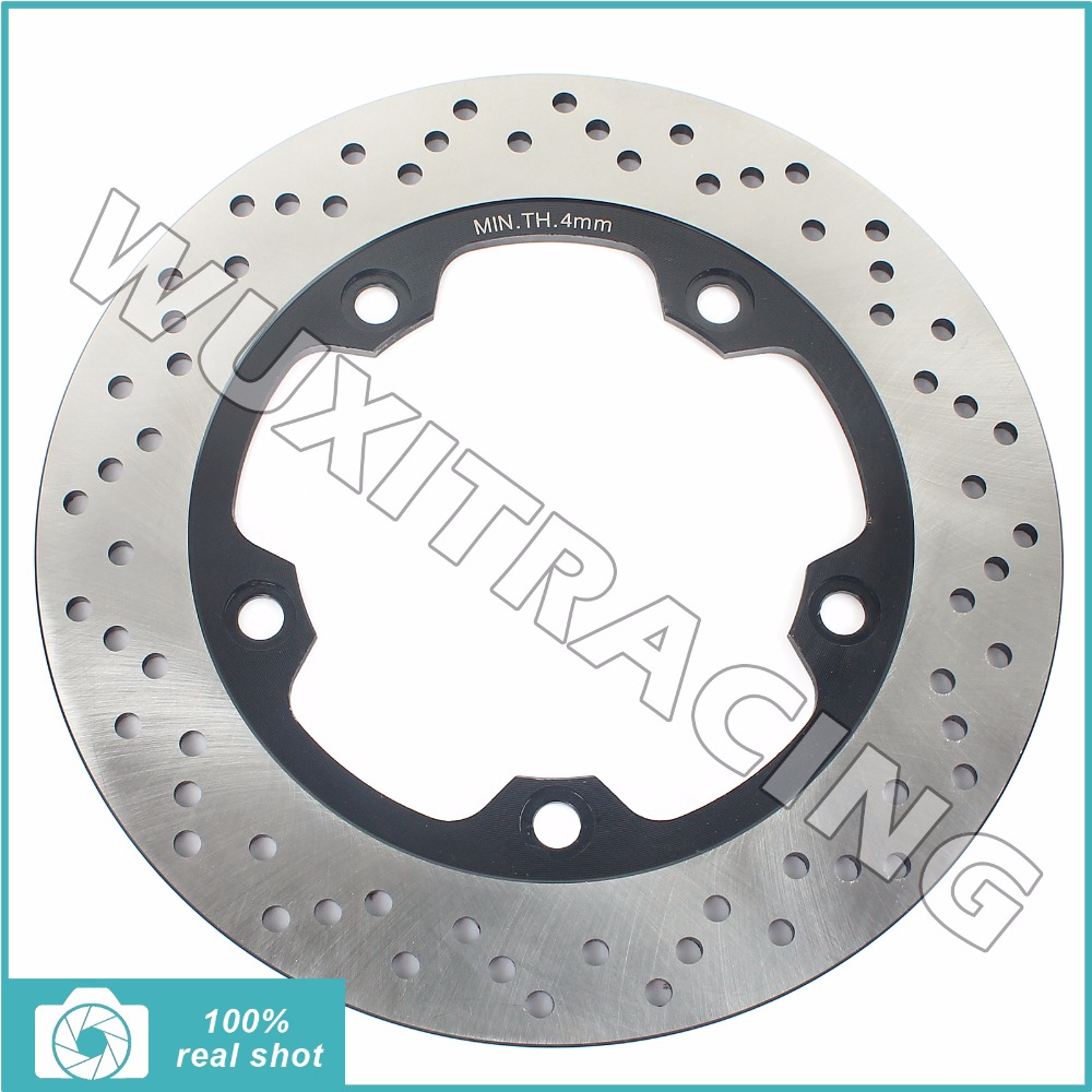 Round Rear Brake Disc Rotor for SUZUKI GSR 400 600 ABS 06 07 08 09 GSF 650 1200 1250 Bandit S N ABS 2006-2011 SV 650 S ABS 07-10 disc brake pads set for suzuki sv650 sv 650 a naked abs 2007 2008 2009 2010 gsr750 gsr 750 abs