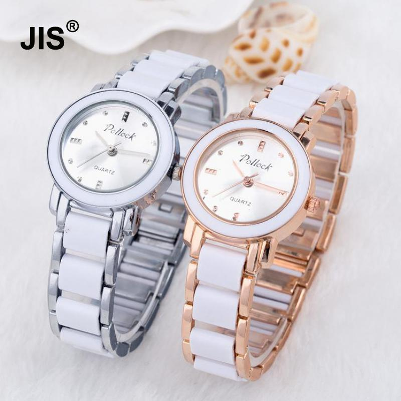 Luxury Rose Gold Silver Alloy & Plastic Small Quartz Bracelet Wristwatches Wrist Watch for Women Ladies Girls stylish bracelet zinc alloy band women s quartz analog wrist watch black 1 x 377