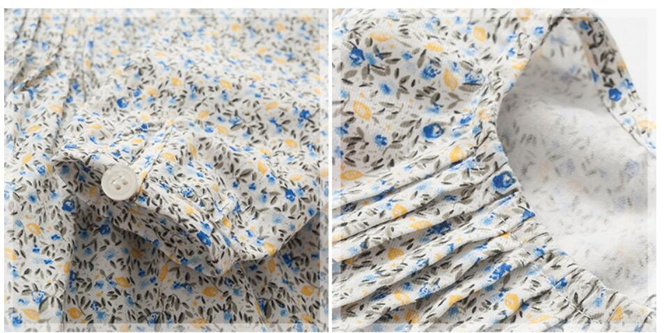Little maven children brand baby girl clothes 2018 autumn new girls cotton long sleeve floral print