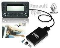 Yatour Numérique Musique musique Changeur pour Renault Clio Tuner Liste Tuner Mise À Jour Liste VDO Dayton 8-pin USB SD AUX Bluetooth adaptateur