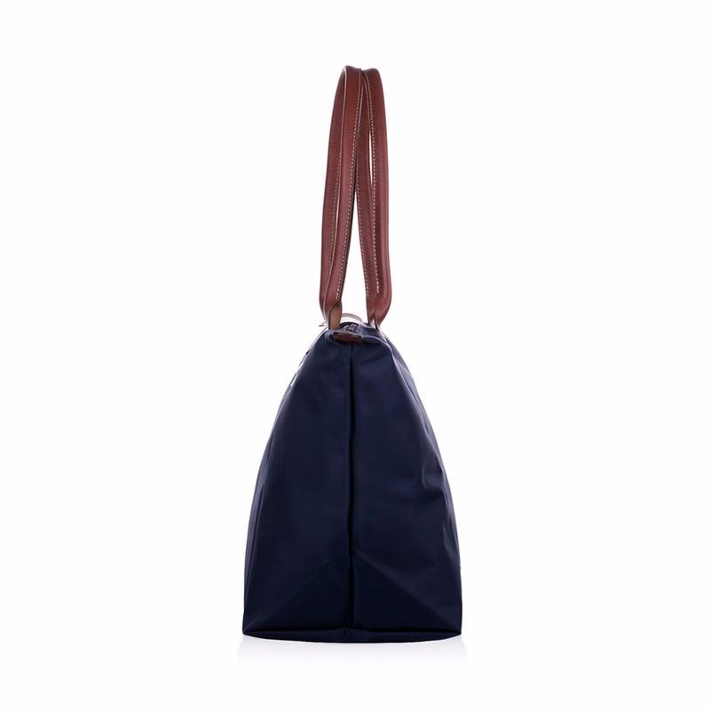 New-folding-shopping-bag-women-nylon-bag-casual-tote-bag-lightweight-foldable-waterproof-nylon-handbag-black (1)