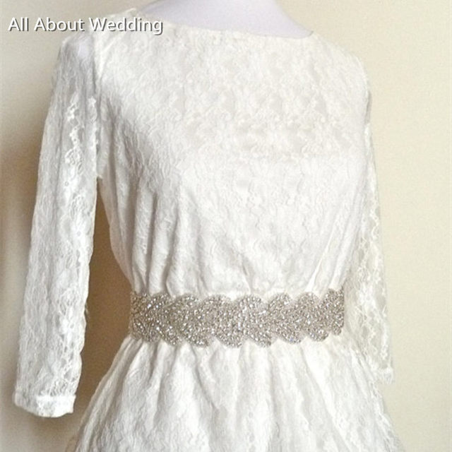 Real Photo Crystal Rhinestone Bridal Belt Bridal Accessory Special Occasion Dress Sash