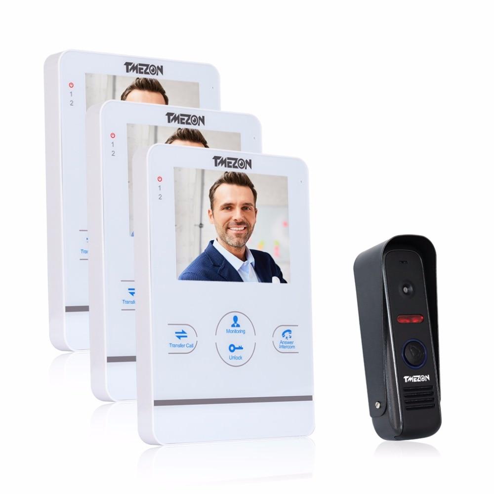 Tmezon 4 inch TFT Color Monitor 1200TVL Camera Video Door Phone Intercom font b Security b