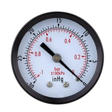 Pressure Gauge 0 30inHg 0 1 bar Mini Dial Air vacuum pressure gauge pressure gauge pressure