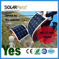 100W Long Lifetime Durable Semi Flexible Aluminum Back Solar Panel Solar Module For RV Boat Golf