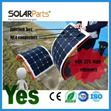 100W long lifetime durable semi- flexible aluminum back solar panel solar module for RV/Boat/Golf cart/Marine/Yachts/Home use
