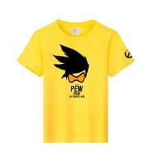 OW Tracer Cos Shirt Tops Summer Casual Women Men T shirt Cotton t-shirt Halloween clothing