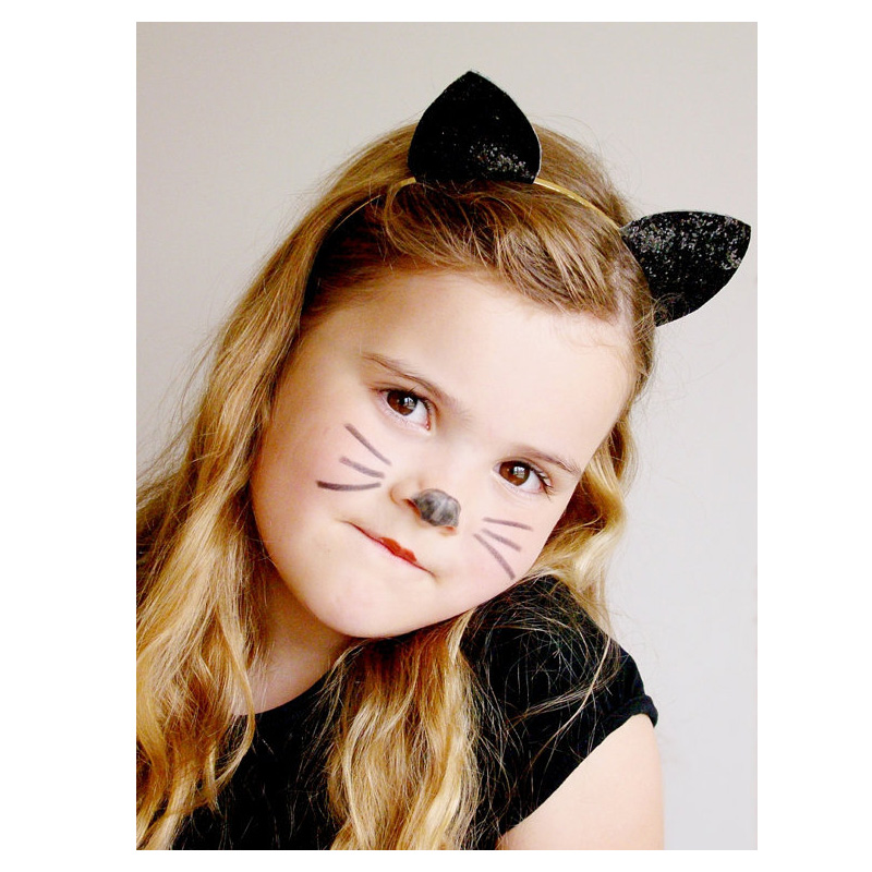 Kids Cat Ears Head Bands Girl Hairband Fashion Lady Sexy Baby Birthday Party Hair Accessories Hair Hoop Halloween Headdress Gift in Hair Accessories from Mother Kids