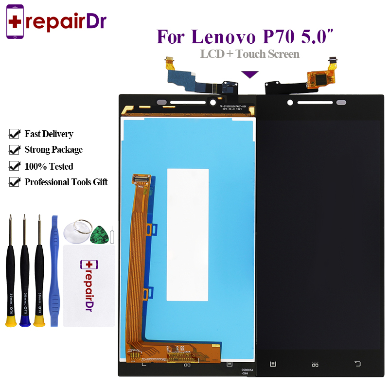 5.0'' ORIGINAL LCD For <font><b>LENOVO</b></font> <font><b>P70</b></font> <font><b>Display</b></font> Touch Screen Digitizer Replacement New For <font><b>Lenovo</b></font> <font><b>P70</b></font> LCD Screen <font><b>P70</b></font>-A P70A Lcd Screen image