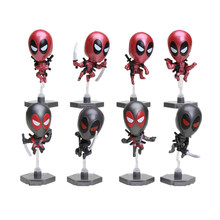 8pcs/lot Marvel the avengers Deadpool Wade Winston Wilson PVC Action Figure Doll Collectible Model Toys children gift(China)