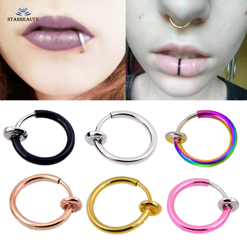 No Piercing Required Sterling Silver Lip Ring Cuff Cosplay Labret