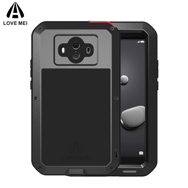 outlet store 0f6a6 e77dd US $28.0 25% OFF|LOVE MEI Aluminum Metal Case For Huawei Mate 10 Mate 10  Pro Cover Armor Shockproof Waterproof Case For Huawei Mate 10 Mate10 Pro-in  ...