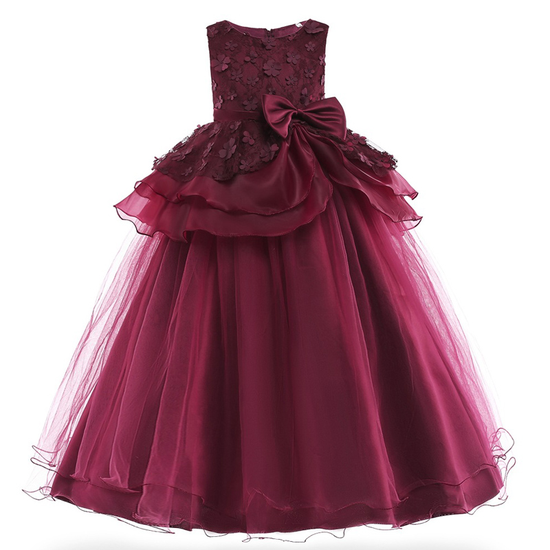 3131728aaa83b Enfants robes pour filles robe de princesse fleur fille robe de mariée 2019  été enfants soirée robe adolescente 8 10 12 14 ans