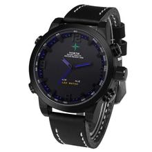 Mens Watches Top Brand Luxury North Double Movement Alarm Clock Waterproof Quartz Leather Sports Wrist Watch Men Casual Clock