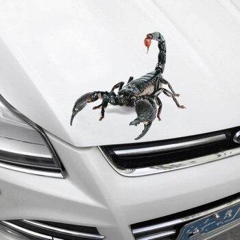 Pegatina de coche 3D, parachoques de animales, araña Gecko, escorpiones para LADA, Priora, Sedan sport, Kalina Granta, Vesta x-ray, XRay para Hummer