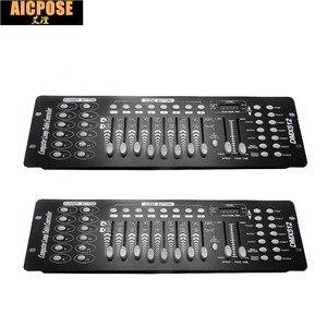 2 unidades/lotes de padrão Internacional DMX 192 controlador controlador de equipamento de DJ console 512 controlador dmx movendo feixe de luz cabeça