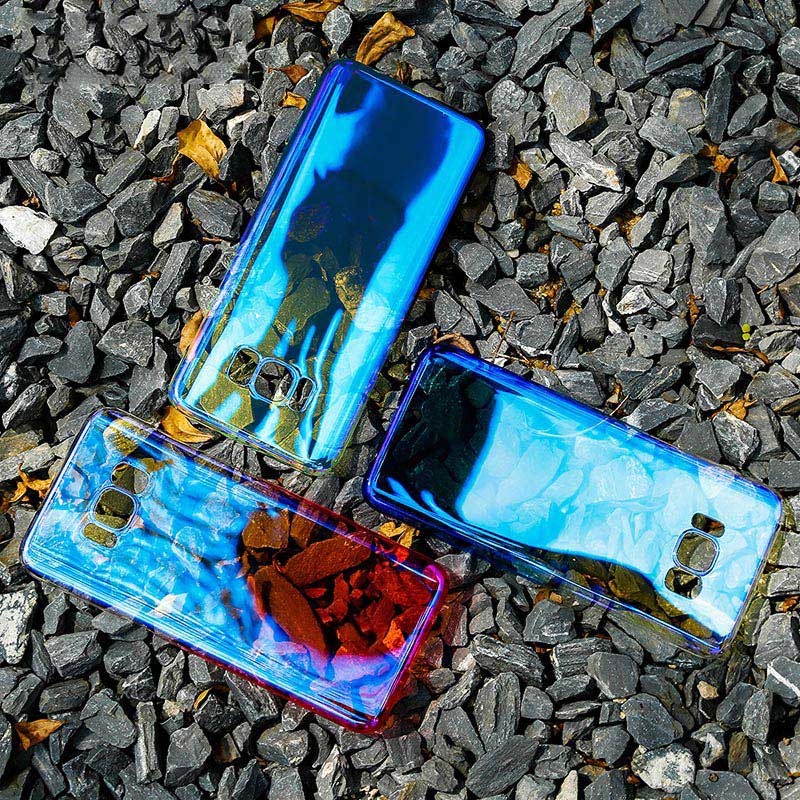 Kolorowe case do samsung galaxy s7 edge s8 plus s8 case gradientu kolor pc mocno plecy pokrywa dla samsung s8 s7 krawędzi case artisome 28
