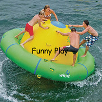 inflatable water balance boat Inflatable floating seesaw balance plate water game for Pool and Lake water gyro summer water park
