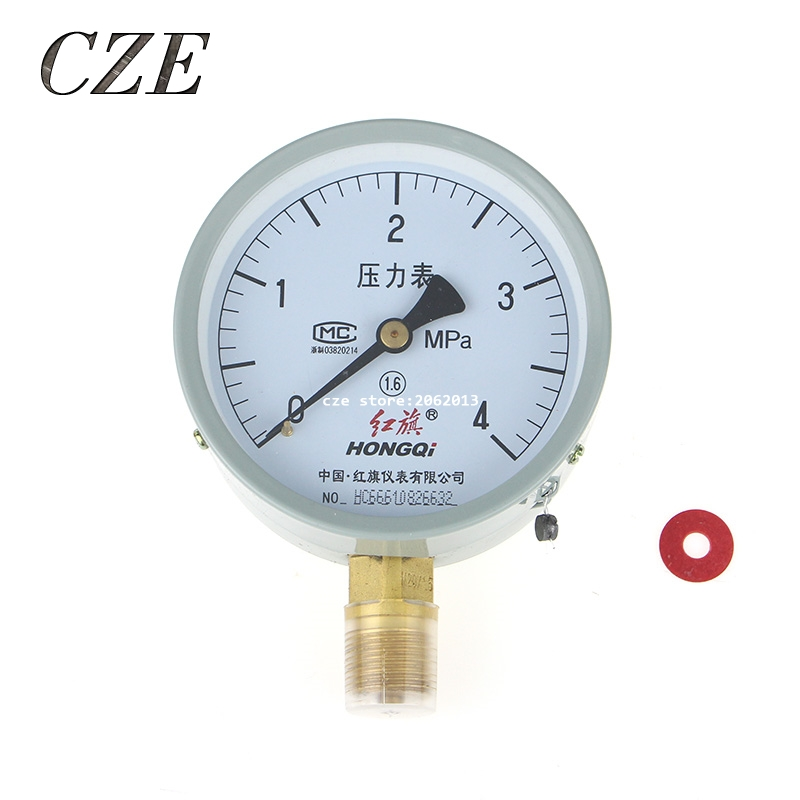 Y-100 0-4Mpa M20X1.5 Vacuum Gauge Air Manometer Pressure Gauge 0-60Mpa All Type