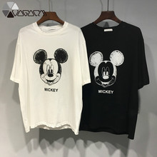 New Summer Mickey Mouse Printed T Shirt Women Clothes Casual Harajuku Cartoon Tops Loose Short Sleeve Tee Plus Size Tshirt
