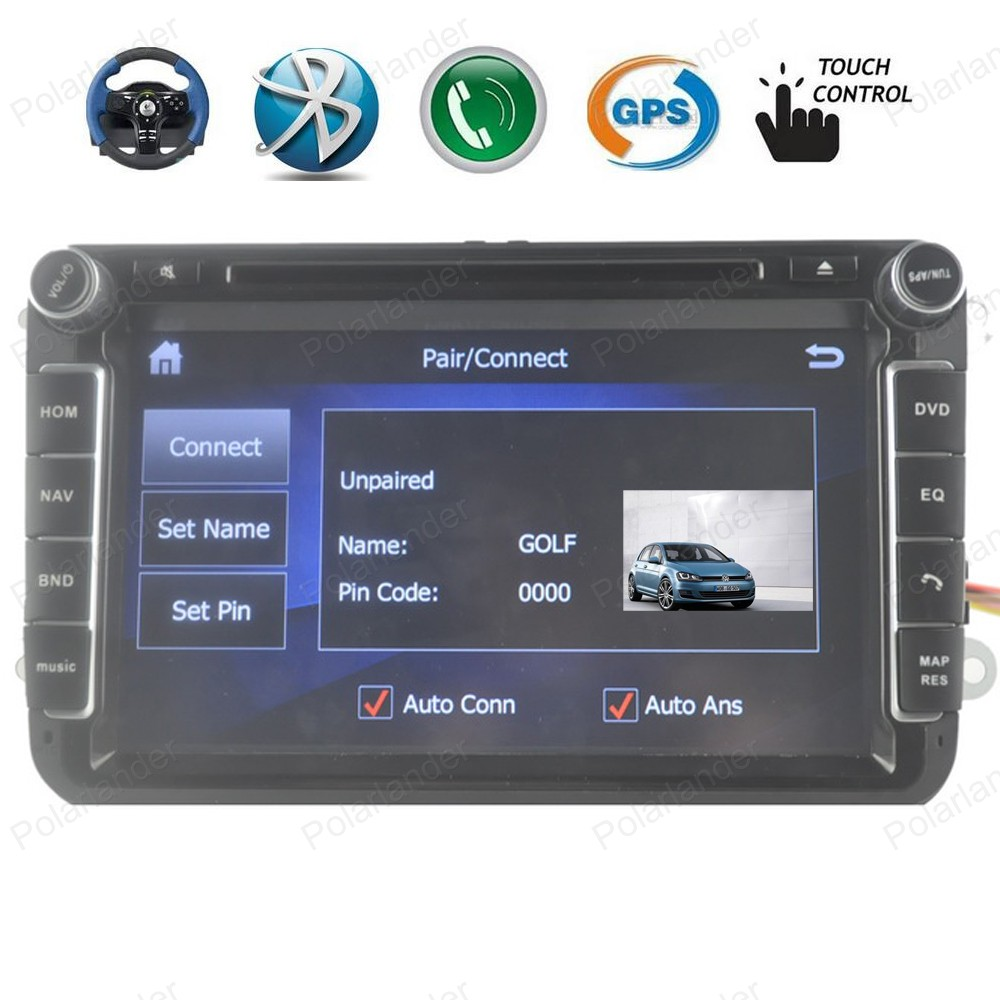 Windows Ce Car DVD Players For VW/POLO/PASSAT/Golf/Skoda/Octavia/SEAT/LEON 3G Radio GPS Wifi Radio 1080P video stereo