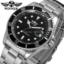 Vainqueur hommes montre automatique auto – vent en cuir mode Casual cristal analogique meilleur montre couleur noir WRG8066M4T1