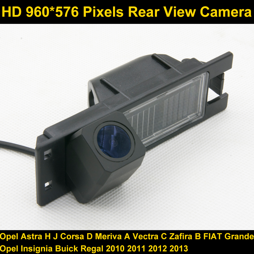 PAL HD 960*576 Pixels Car Parking Rear view Camera for Opel Astra H J Corsa D Meriva A Vectra C Zafira B FIAT Grande Insignia ynd led rear license plate light for vauxhall opel corsa c d astra h j zafira b
