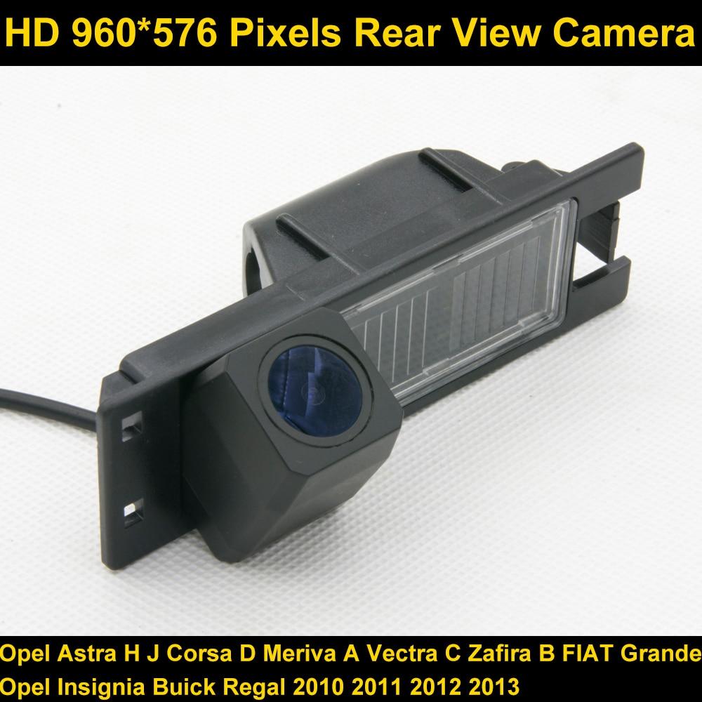 PAL HD 960*576 Pixels De Voiture Parking vue Arrière Caméra pour Opel Astra H J Corsa D Meriva Un Vectra C Zafira B FIAT Grande insignes