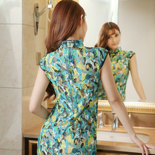 new women Transparent cheongsam Qipao  temptation pure noble dress sexy