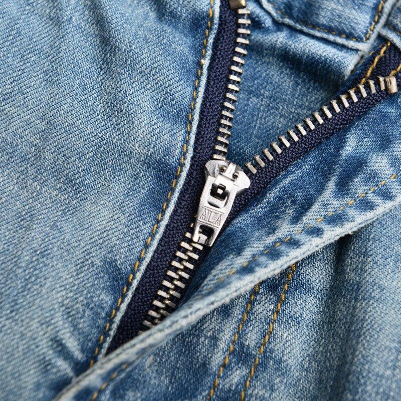 Denyblood Jeans Mens Stretch Pambıq Denim Şalvar Vintaj Yuyulmuş - Kişi geyimi - Fotoqrafiya 3