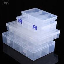 Boxi – boîte de rangement en plastique, 8/12/24 compartiments à grille, boîtes transparentes réglables, bijoux, boucle d'oreille, vis pour organiser de petites choses